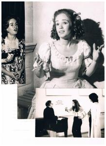 "L to R:  Honolulu, early 60s; Vienna Chamber Opera, ""School for Wives,"" Liebermann/Moliere, 1974;Salzburg Festival, mid-70s, Karl Böhm and ""Die Frau ohne Schatten,"" Strauss."